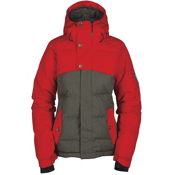 Bonfire Astro Womens Insulated Snowboard Jacket, Iron-Poppy, medium