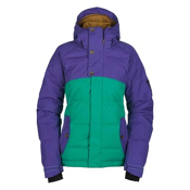 Bonfire Astro Womens Insulated Snowboard Jacket, Wildwoods-Iris, medium