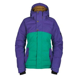 Bonfire Astro Womens Insulated Snowboard Jacket, Wildwoods-Iris, 256