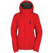Bonfire Madison Womens Insulated Snowboard Jacket, Poppy, medium