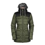 Bonfire Halifax w/Faux Fur Womens Insulated Snowboard Jacket, Bunker-Black, medium