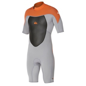 Quiksilver 2mm Syncro SSL Spring BZ Flatlock Shorty Wetsuit 2015, Gray-Orange, medium
