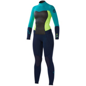Roxy 3/2mm Syncro Full Womens Full Wetsuit, Navy-Lemon-Turquoise, medium