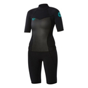 Roxy 2/2mm Syncro Spring Womens Shorty Wetsuit 2015, Black, medium