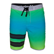 Hurley Phantom Block Party Destroy Board Shorts, Blue Lagoon, medium