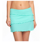 Body Glove Smoothies Salsa Mesh Skirt Bathing Suit Cover Up, Lagoon, medium