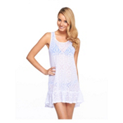 Body Glove Ariel Dress Bathing Suit Cover Up, White, medium