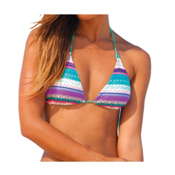 Body Glove Splice Of Life Oasis Slider Bathing Suit Top, Lagoon, medium