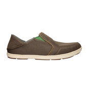OluKai Nohea Mesh Mens Shoes, Mustang-Lime Peel, medium