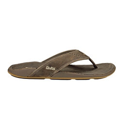 OluKai Nui Mens Flip Flops, Clay-Clay, 256