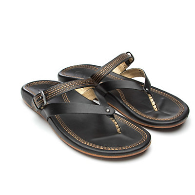 OluKai Mana Lua Womens Flip Flops, Black-Black, viewer
