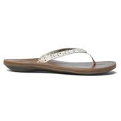 OluKai Puka Womens Flip Flops, Tapa-Bean, medium