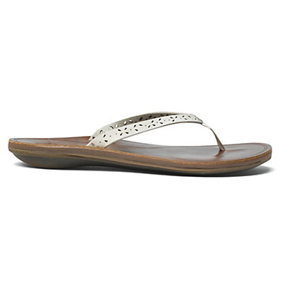 OluKai Puka Womens Flip Flops, Black-Black, viewer
