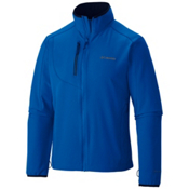 Columbia EVAP-Change Mens Soft Shell Jacket, Hyper Blue-Collegiate Navy, medium