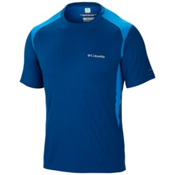 Columbia Freeze Degree II Short Sleeve T-Shirt, Marine Blue-Hyper Blue, medium