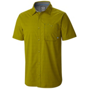 Mountain Hardwear Kotter Stripe Short Sleeve Shirt, Python Green, medium