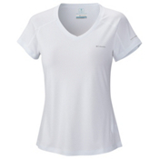 Columbia Zero Rules Short Sleeve Womens T-Shirt, White, medium