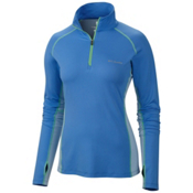 Columbia Freeze Degree III Half Zip Womens T-Shirt, Harbor Blue, medium