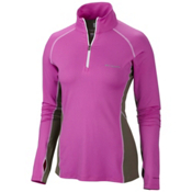 Columbia Freeze Degree III Half Zip Womens T-Shirt, Foxglove, medium