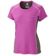 Columbia Freeze Degree III Short Sleeve Womens Shirt, Foxglove, medium