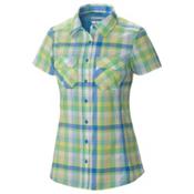 Columbia Saturday Trail III Short Sleeve Womens Shirt, Harbor Blue Plaid, medium