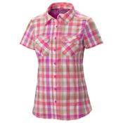 Columbia Saturday Trail III Short Sleeve Womens Shirt, Foxglove Plaid, medium