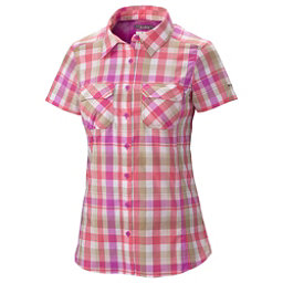 Columbia Saturday Trail III Short Sleeve Womens Shirt, Foxglove Plaid, 256