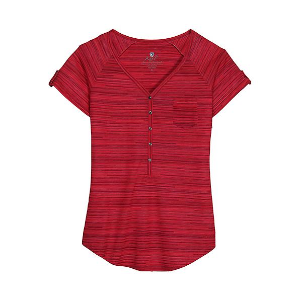 KUHL Bella Short Sleeve Womens Shirt, Watermelon Stripe, 600