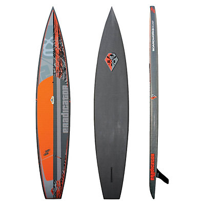 Boardworks Surf Eradicator 12ft 6in Race Stand Up Paddleboard, Black-Orange-Grey, viewer