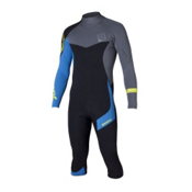 Mystic Crossfire 4/3 Back-Zip Shorty Wetsuit 2015, Blue, medium