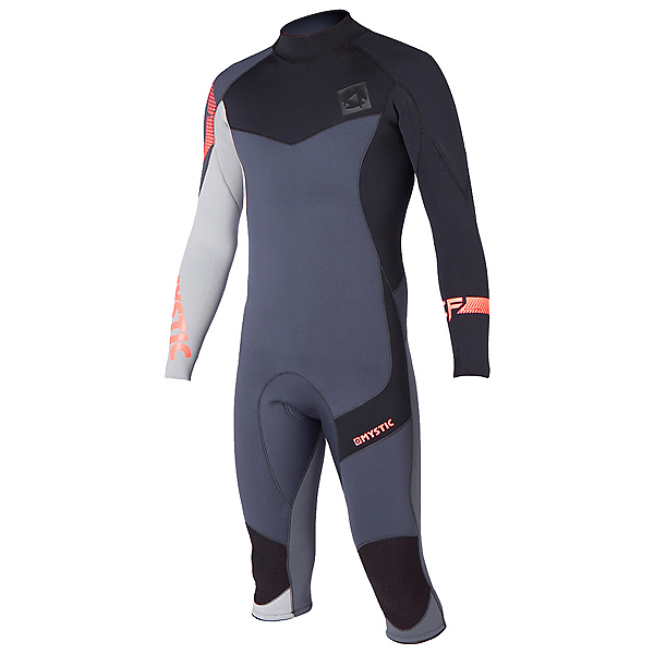 Mystic Crossfire 4/3 Back-Zip Shorty Wetsuit 2015, Grey, 600