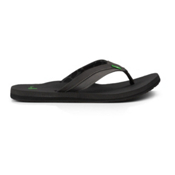 Sanuk Beer Cozy Light Mens Flip Flops, Black, medium