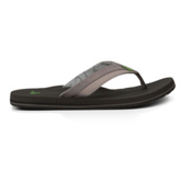 Sanuk Beer Cozy Light Mens Flip Flops, Charcoal, medium