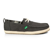 Sanuk Admiral Mens Shoes, Black, medium