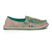 Sanuk Scribble Womens Shoes, Teal Multi, medium
