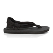 Sanuk Yoga Slingshot Womens Flip Flops, Black, medium