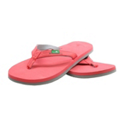 Sanuk On The Rocks Womens Flip Flops, Watermelon-Grey, medium