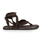 Sanuk Yoga Slinged Up Womens Flip Flops, Brown, medium
