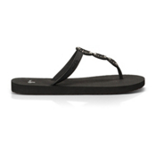 Sanuk Ellipsis Womens Flip Flops, Black, medium