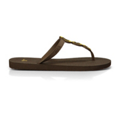 Sanuk Ellipsis Womens Flip Flops, Brown, medium