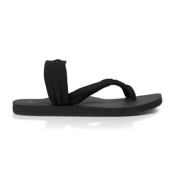 Sanuk Yoga Sling It On Womens Flip Flops, Black, medium