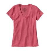 Patagonia Necessity V-Neck Womens Shirt, Ginger Berry, medium