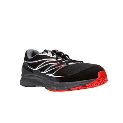 Salomon Sense Link Mens Shoes, Black-Dark Cloud-Tomato Red, viewer