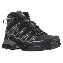 Salomon X Ultra Mid 2 GTX Mens Hiking Boots, Black-Black-Aluminium, 256