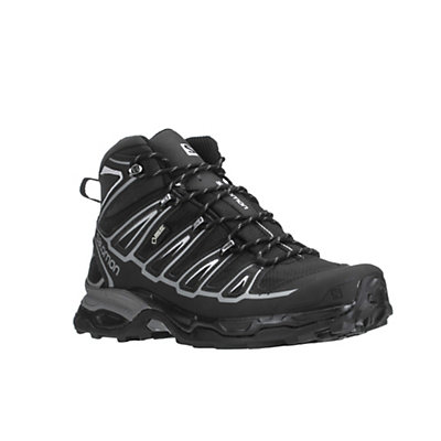 Salomon X Ultra Mid 2 GTX Mens Hiking Boots, Black-Black-Aluminium, viewer