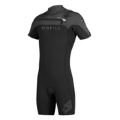 O'Neill Hyperfreak FZ Short Sleeve Spring Shorty Wetsuit 2015, Black-Graphite-Sky, medium