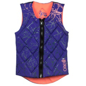 O'Neill Gem Comp Womens Life Vest 2016, Cobalt-Papaya, medium