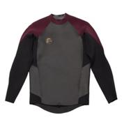 O'Neill O'Riginal GBS Long Sleeve Crew Wetsuit Top, Black-Myers, medium