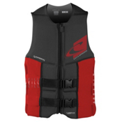 O'Neill Assault LS USCG Adult Life Vest 2016, Black-Red, medium