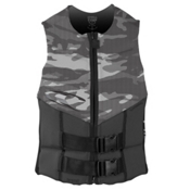 O'Neill Outlaw Comp Adult Life Vest, Graphite-Graphite-Black, medium